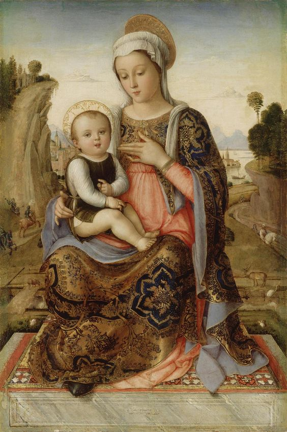 Madonna and Child  Italy, Late 15th century  Author: Unknown artist Name: Madonna and Child Place: Italy Date: Late 15th century Technique: oil on canvas (transferred from panel) Dimension: 58x38 cm: