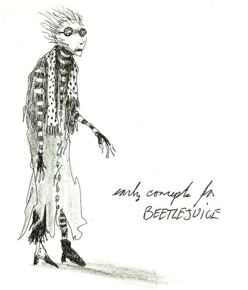 Concept art for Beetlejuice