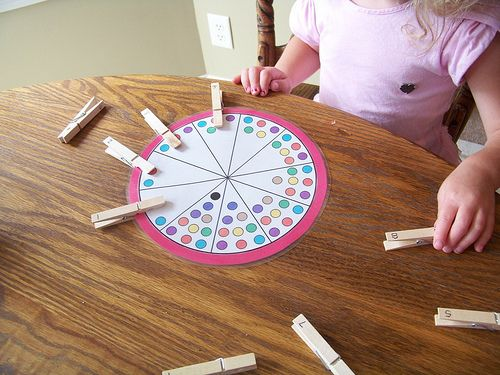 Great idea for teaching number recognition. Adapt for Rory:  Write out number names on clothespins and have her clip them to the matching number on a ruler.