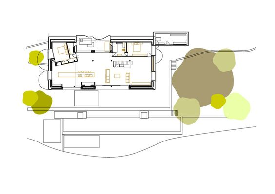 Off Grid Home in Extremadura by ÁBATON Architects_ Ground floor plan 1-200: Extremadura Abaton, Projects Plants, Floor Plans, Architecture Plans, Architects Extremadura, Architects Ground