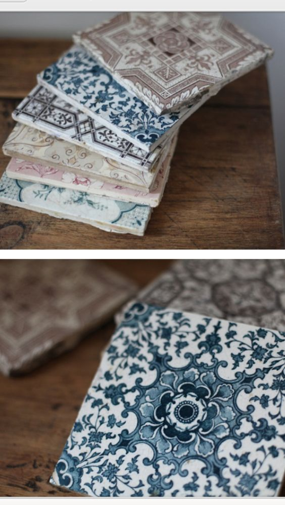 Victorian tiles - some like these would be perfect for a splash back.