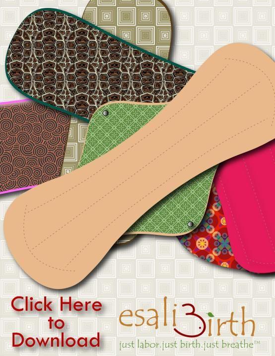 Period liner, regular, heavy, overnight, postpartum pad free patterns - Cloth Pads - Esali Birth