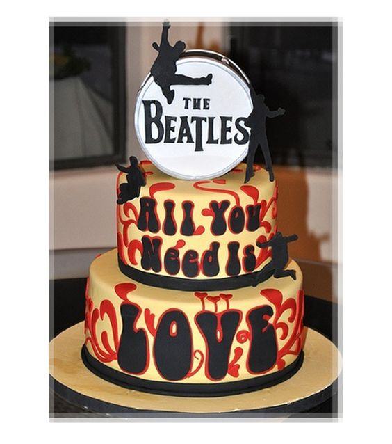 The Beatles All You Need is Love Cake #LittleRock
