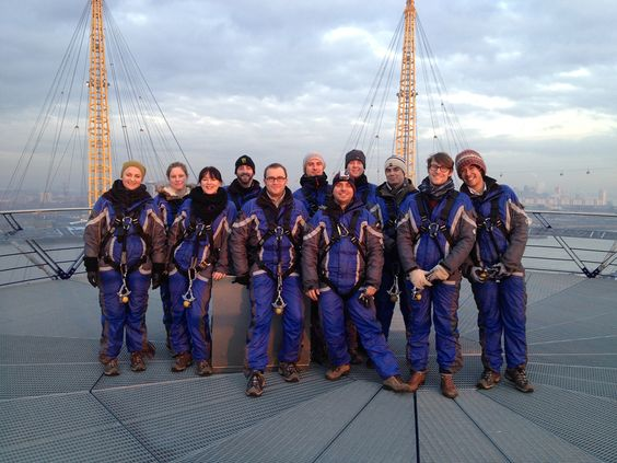 TimberFirst at the top of the 02 Skywalk as part of our Christmas celebrations.