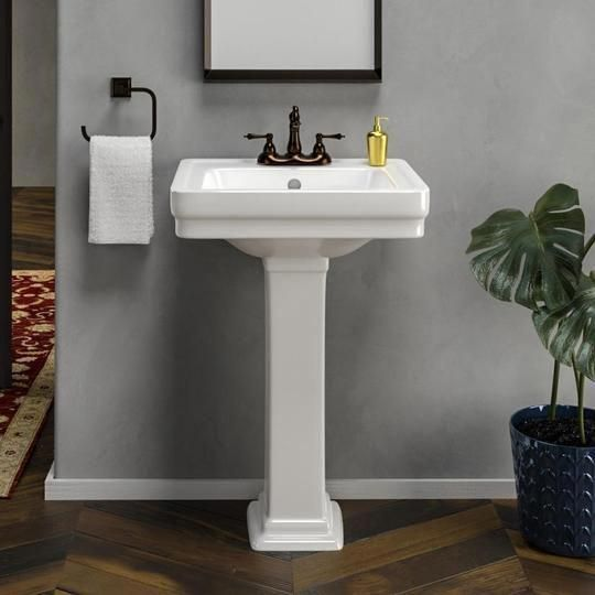 Inspiration And Looks We Love When It Comes To New Bathroom Dreambathroom Pedestal Sink Bathroom Decor Master Bathroom