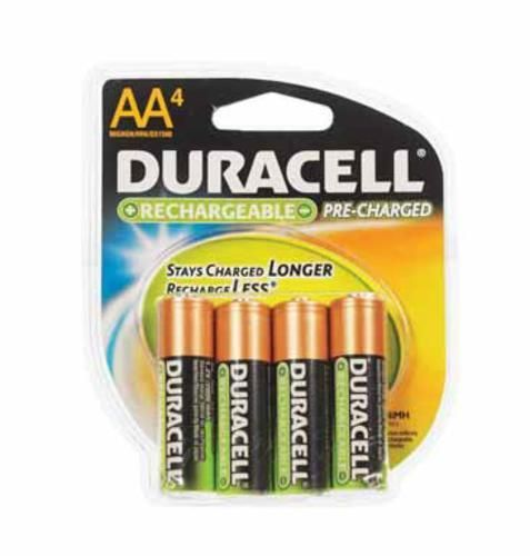 Duracell Dc Nl Aa4bcd Pre Charged Rechargeable Batteries 2000 Mah Aa In 2021 Rechargeable Batteries Duracell Battery Sizes