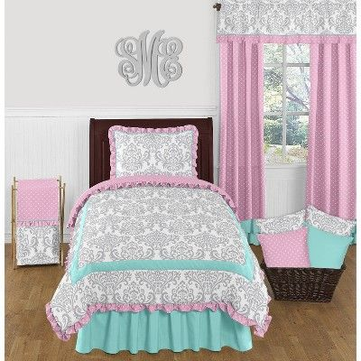 Twin Turquoise Bed Skirt Sweet Jojo Designs Blue Turquoise