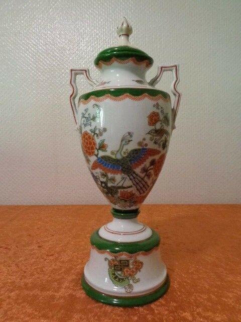 Antike Porzellan Amphoren Vase Deckelvase Jugendstil Um 1900