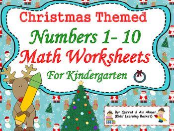 Number Names Worksheets : christmas themed worksheets for ...