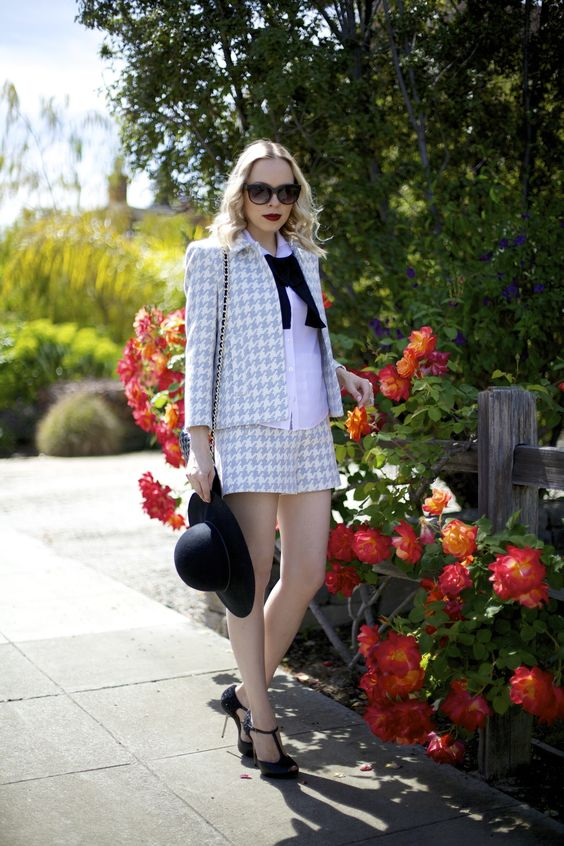 Lombard And Fifth | Zara Houndstooth suit