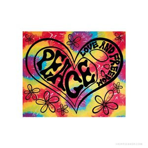 Peace, Love and Freedom Tie Dye Tapestry