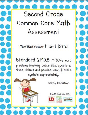 Pretests and assessments for 2nd grade math CCSS