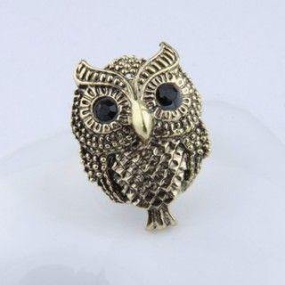 Fashion Sweet Rhinestone Owl Rings Jewelry