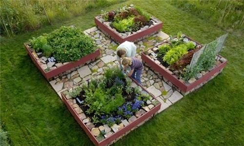 Raised garden layout