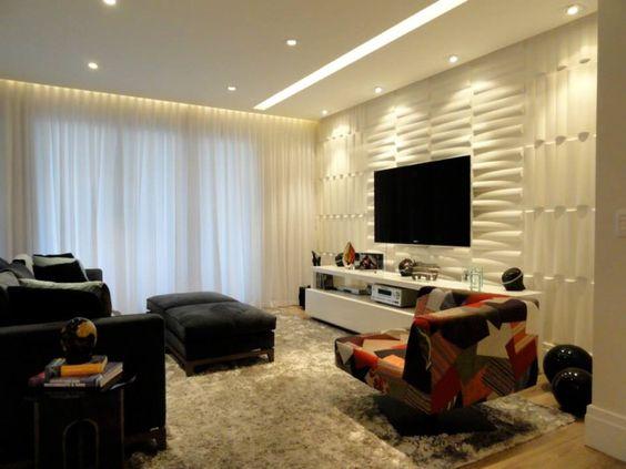 Sala De Tv Com Revestimento ~ Painel TV, revestimento tv  Sala de tv  Pinterest  TVs