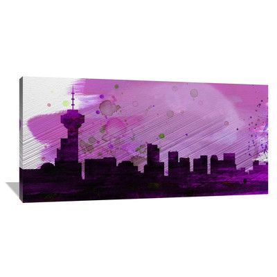 Naxart 'Vancouver City Skyline' Painting Print on Wrapped Canvas Size: