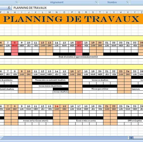 Exercice corrig planning de travaux et de main doeuvre sous modle planning travaux de construction xls ccuart Choice Image