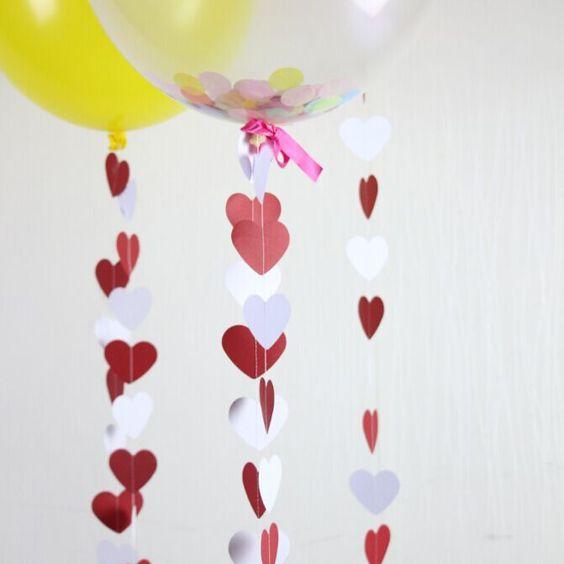 coeur guirlande blanc rouge or anniversaire guirlande valentine dcoration de mariage dans accessoires de ftes - Aliexpress Decoration Mariage