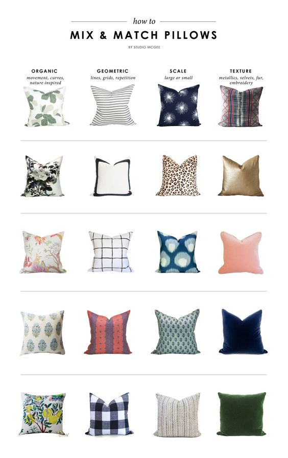 How To Mix Amp Match Pillows Home Curves And Patterns