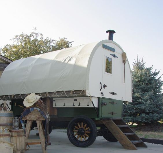 This wagon built on old buick car frame that we restored architecture pinterest buick - The mobile shepherds wagon ...