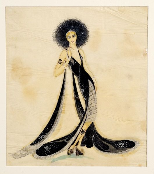 Ca 1920s haute couture fashion drawings in watercolor on for 1920 s haute couture