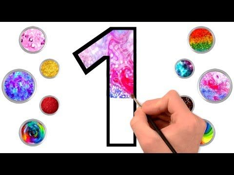 Glitter Numbers Drawing Learning And Coloring 1 To 10 How To Draw Numbers For Tmkids Art Colouring Youtube Number Drawing Youtube Drawings