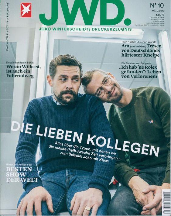 Jwd Joko Winterscheidt 10 2019 Die Lieben Kollegen Joko Und Klaas Joko Winterscheidt Joko