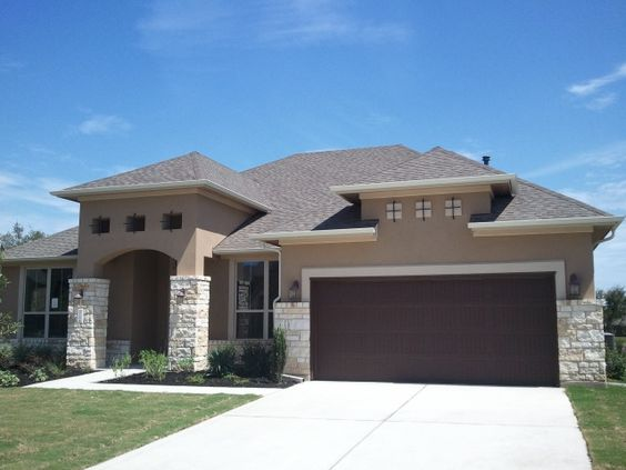 Falconhead west bee cave austin tx new home construction for Stucco garage