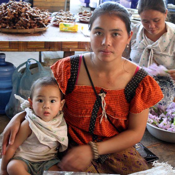 Laos - Vang Vieng to Vientiane Village Market