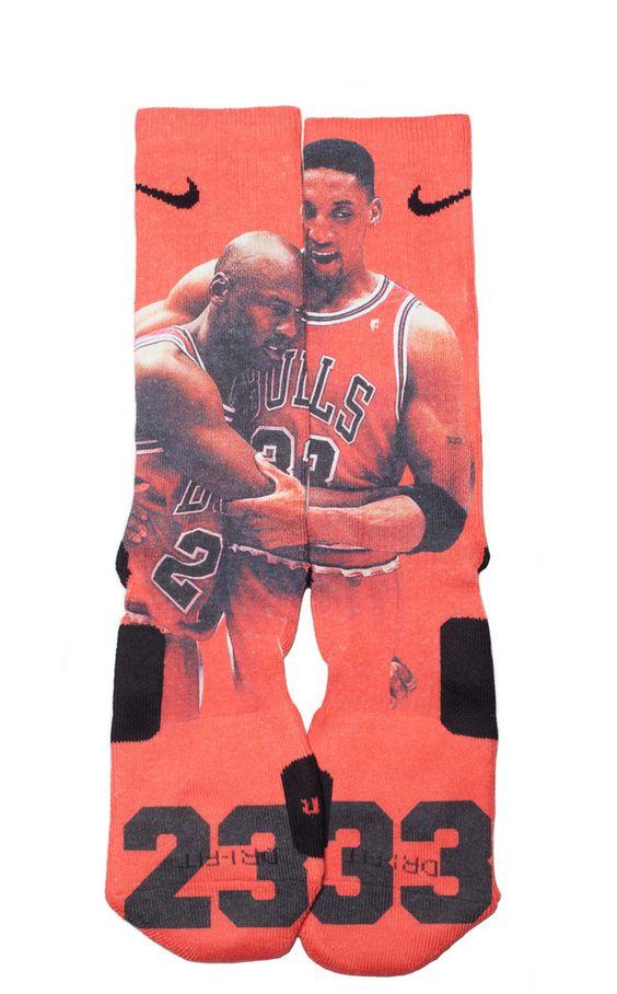 tom express - Michael Jordan 23 and Scottie Pippen 33 socks | Faith | Pinterest ...