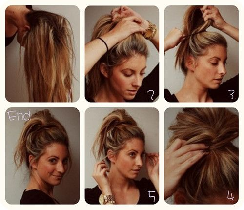 Superb Messy Bun Updo Easy Messy Bun And Messy Buns On Pinterest Short Hairstyles Gunalazisus