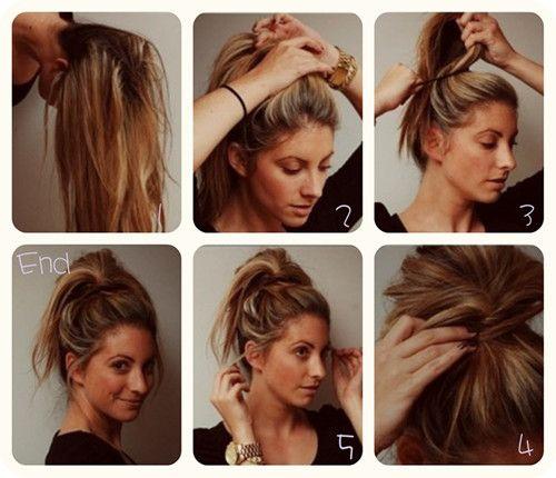 Phenomenal Messy Bun Updo Easy Messy Bun And Messy Buns On Pinterest Hairstyles For Men Maxibearus