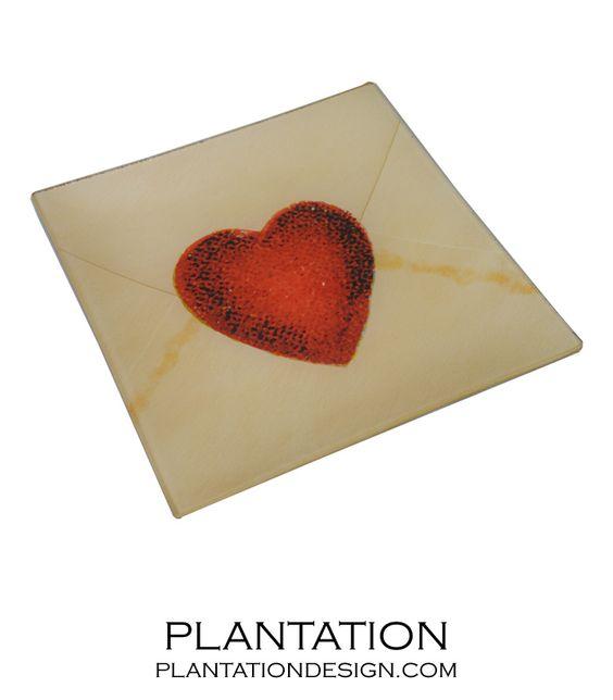 Love Letter Decoupage Tray