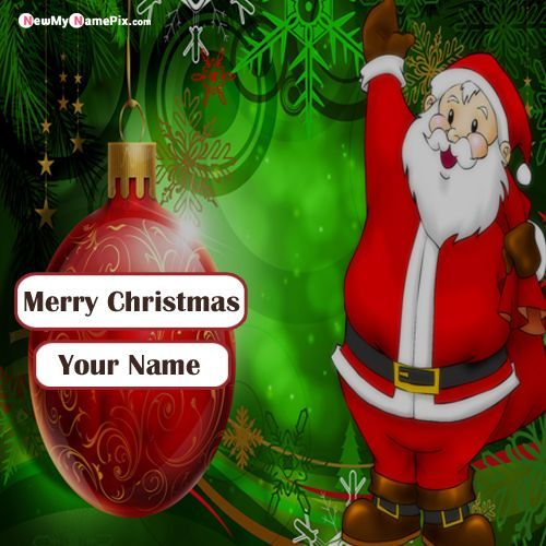 Print Name Christmas Wishes Santa Claus Image Sending Free Happy Merry Christmas Christmas Wishes Happy Birthday Wishes Photos