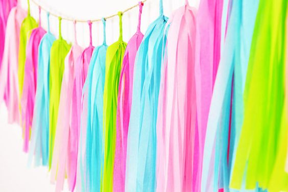 Lilly Pulitzer Inspired Tassel Garland Bridal Shower by GenWoo: