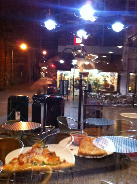 Christian's Pizza on the Downtown Mall. One of the other places where Mo and Gabrielle eat.   Breakaway- Novel Inspiration   Pinterest   Pizzas and Novels