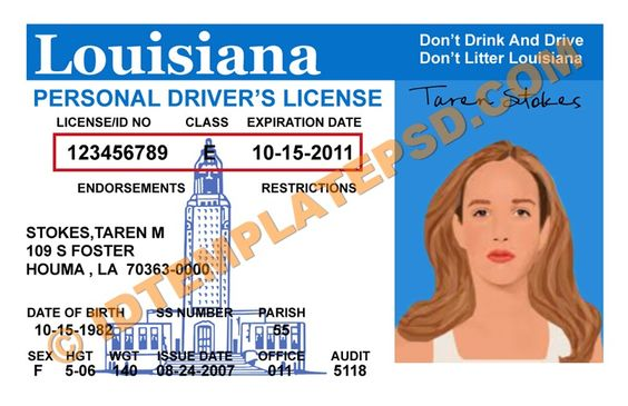 This is louisiana usa state drivers license psd photoshop this is louisiana usa state drivers license psd photoshop template on this psd template you can put any name address license no dob etc and pronofoot35fo Gallery