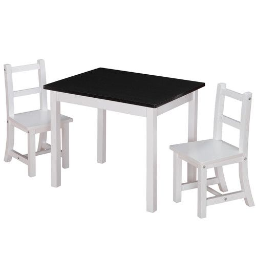 Dorel Asia Kiddy 3 Piece Rectangle Table and Chair Set (Chalkboard Top)