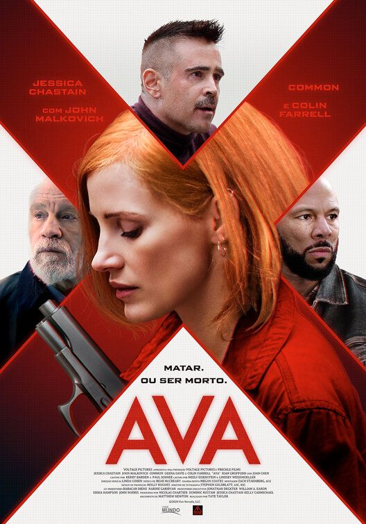Ava Movie Poster In 2020 New Movie Posters Jessica Chastain New Movies