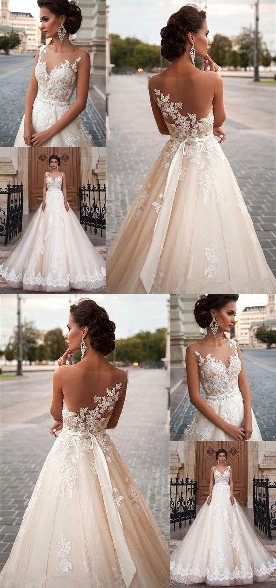 Wedding Dresses A Line Vintage Lace Bohemian Wedding Bridal Gowns White Ivory Lace Wedding Dress Vintage Wedding Dresses Vintage Bohemian Summer Wedding Dress
