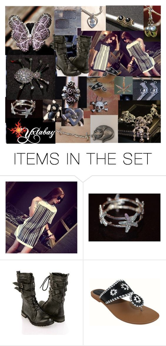 """Bar Code Dresses & Black & Silver Jewelry"" by yxtabay ❤ liked on Polyvore featuring art, jewelry, pocpolyvore and Yxtabay"