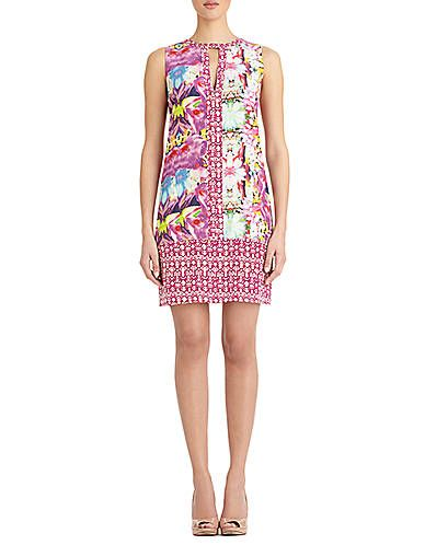 Orchid Multi Color Block Dress | Lord and Taylor