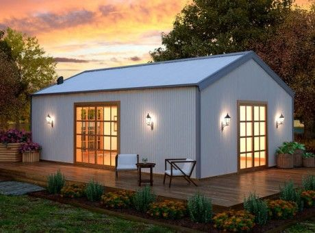 getaway diy steel sheds shed homes homes sarwood homes qld odd homes lake homes studio space small homes