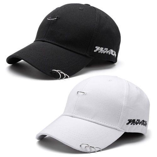 Snapback-Hats-Unisex-Hip-Hop-adjustable-Baseball-Cap-dance-Show-Hat-with-Rings