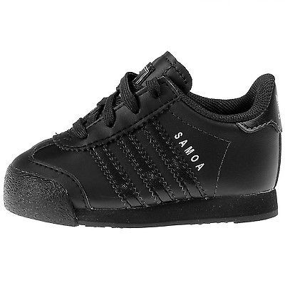 ADIDAS SAMOA INFANT S85297 Black Silver Td Toddler Shoes Sneakers Baby Size  5