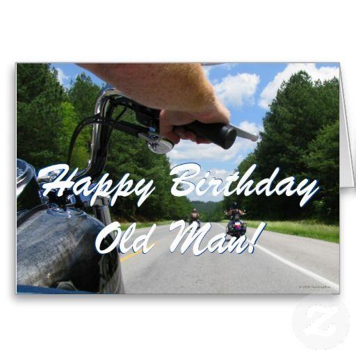 Funny Biker Motorcycle Ride Happy Birthday Card
