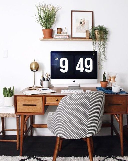 Fabulous Modern Desk Ideas For Functional And Enjoyable Office Diy Design Mid Century Metal Minimalist Office Home Office Decor Home Office Space Home Decor