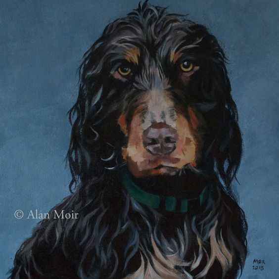 Alan Moir. Denzil - acrylic on canvas. www.facebook.com/alan.moir.portraits