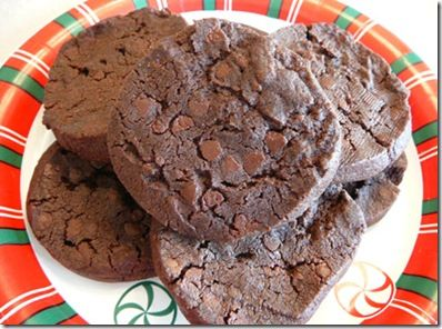 ... - chocolate shortbread with dark chocolate chunks and fleur de sel