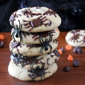Easy to make Spider Infested Halloween Cookies.